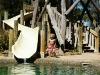 Het zwembad op de camping van Bathurst