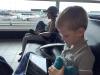 Wachten op onze vlucht naar Reykjavik