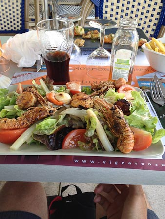 Lunchen in Chateau d\'Oleron