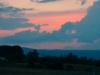 Zon onder in Shenandoah Valley