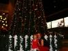 Rosalie met de kerstboom