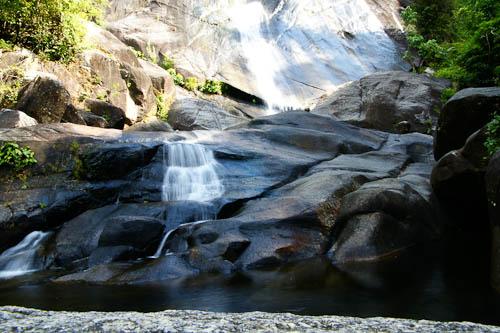 Seven Wells waterval, de onderste