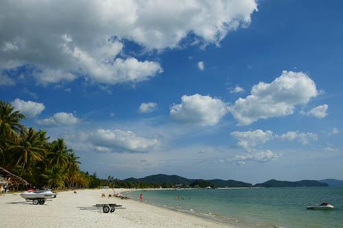 Pantai Chenang, strand van Pelangi