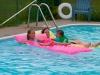 Lekker zwemmen in bijna privebad