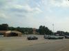 Een verlaten winkelcentrum