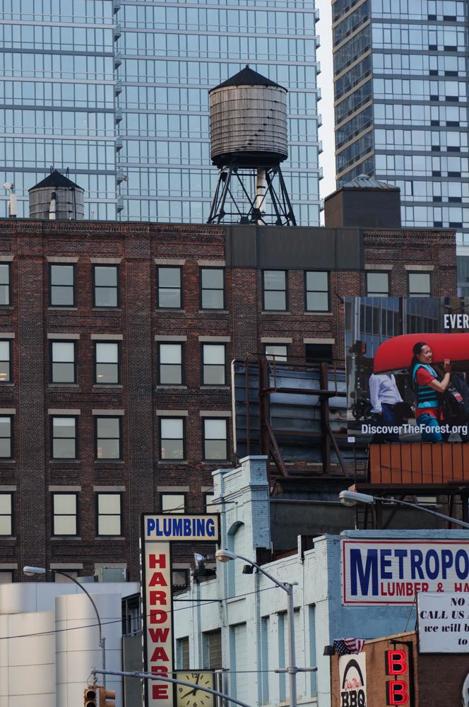 Watertanks op het dak