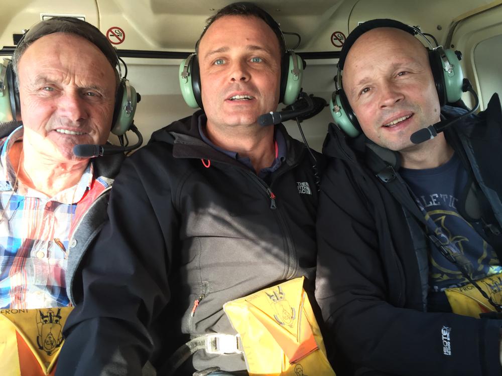 Knus in de helicopter