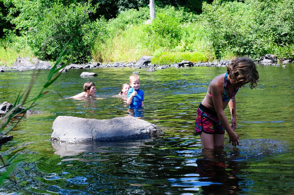 Kids nog ff zwemmen
