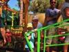In de rij voor de achtbaan