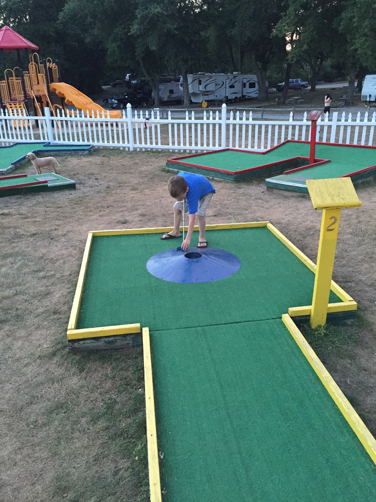 En niet zo serieus mini golf