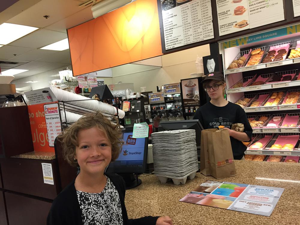 Effe nog ontbijt halen bij Dunkin Donuts