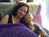 En Rosalie en mama achter ons