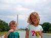 De kids als toeristje